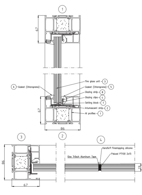 B15 – Butt joint glass wall