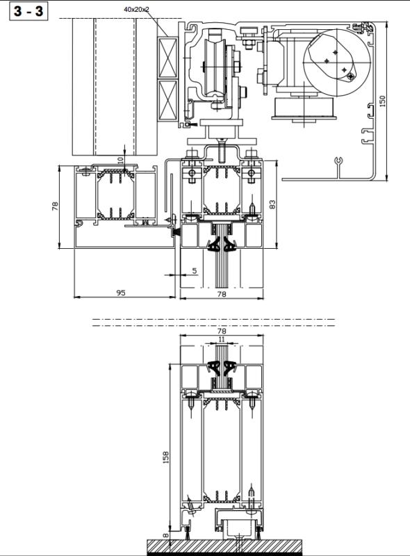 B15 - Single sliding door