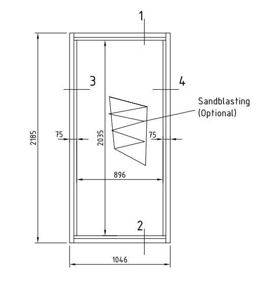 A60 - Glazed partition / window