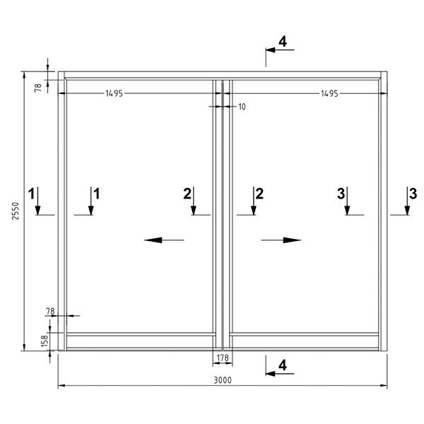 B15 - Double sliding door