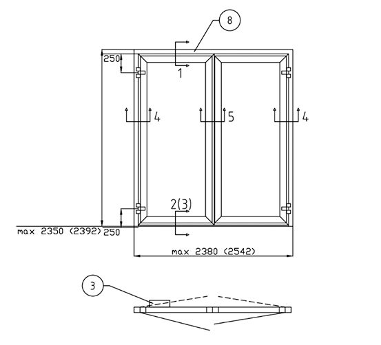 B15 - Hinged door double