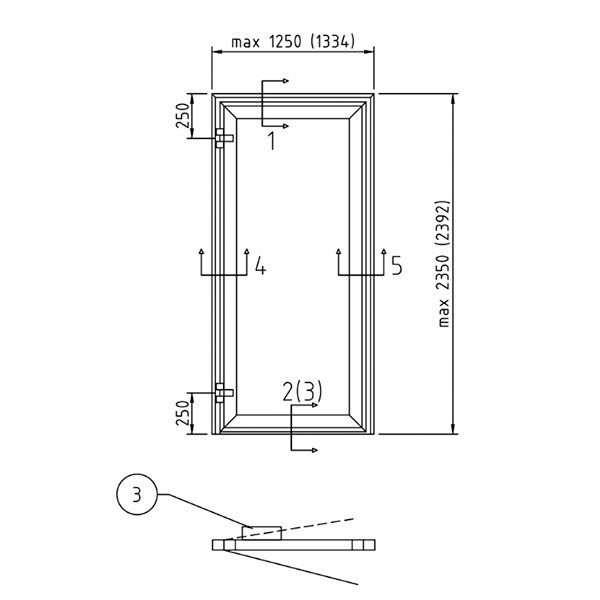 B15 - Hinged door single
