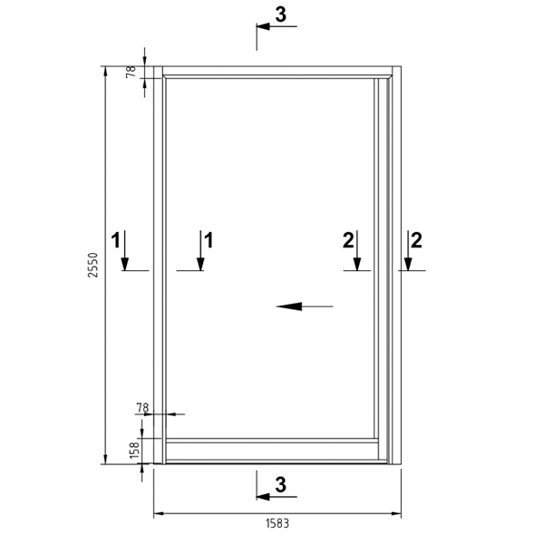 B15 - Single sliding door